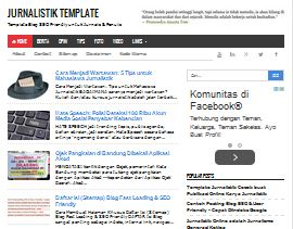 Jurnalistik Template - SEO Killer Blogger Template