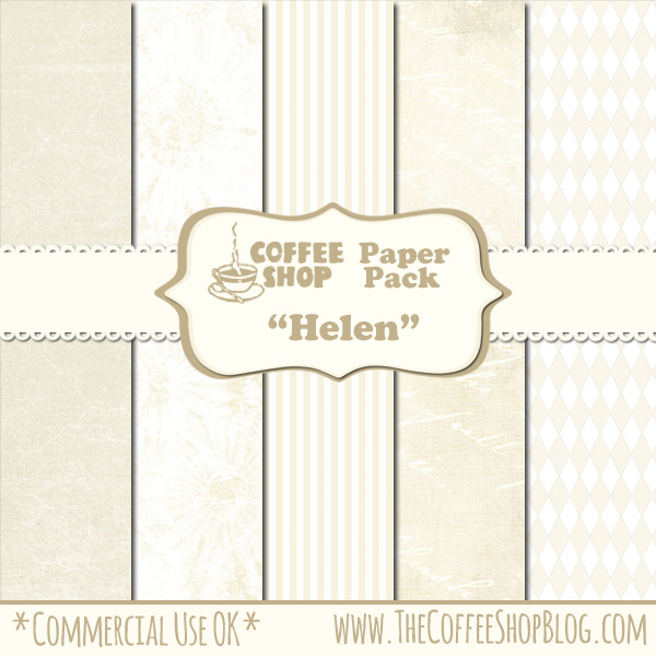 """CoffeeShop """"Helen"""" Digital Paper Pack! CoffeeShop+Helen+Paper+Pack+ad"""