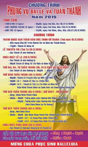 Lịch tĩnh tâm và xưng tội mùa Chay Thánh ở các giáo xứ lớn