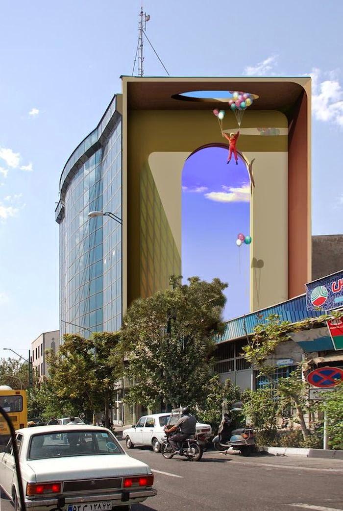 Murales en los edificios de Teheran 20