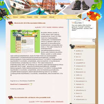 Seeing Halong Bay Vietnam Blogger Template. free download template blogspot