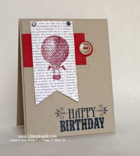 Stampin' Up! You're Amazing Stamp Set Birthday Card