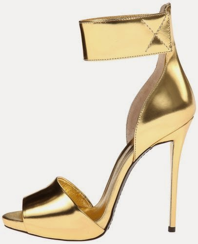 Gold Metallic Heels
