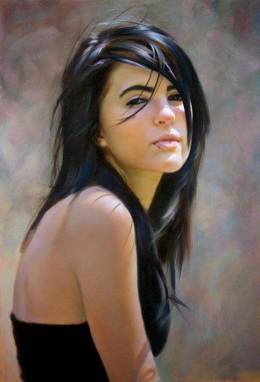 ===La mujer, un bello rostro...=== 8-oleos-rostros-femeninos-parecen-fotos_1