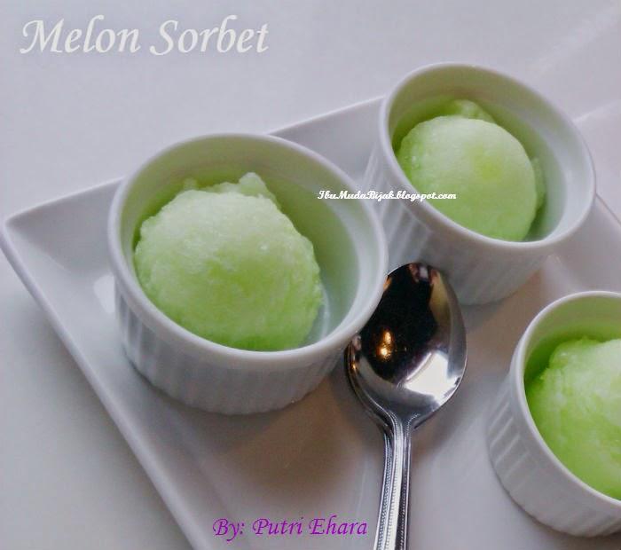 resep dessert melon sorbet