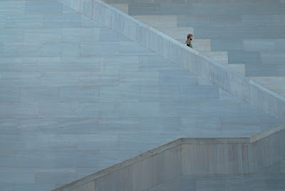 man on stairs, national gallery of art