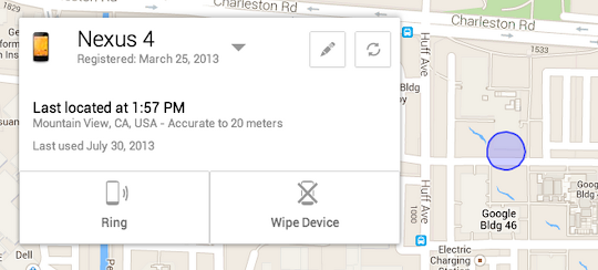 Android Device Manager: an app that lets you find your lost phone