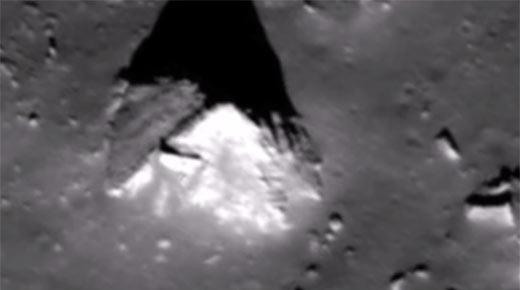 Una pirámide sobre la Luna: Rara imagen muestra una estructura artificial en el lado oculto de la Luna
