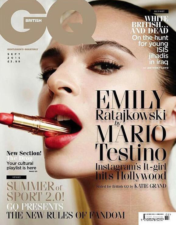 Emily Ratajkowski goes sexy for the GQ UK September 2015 edition