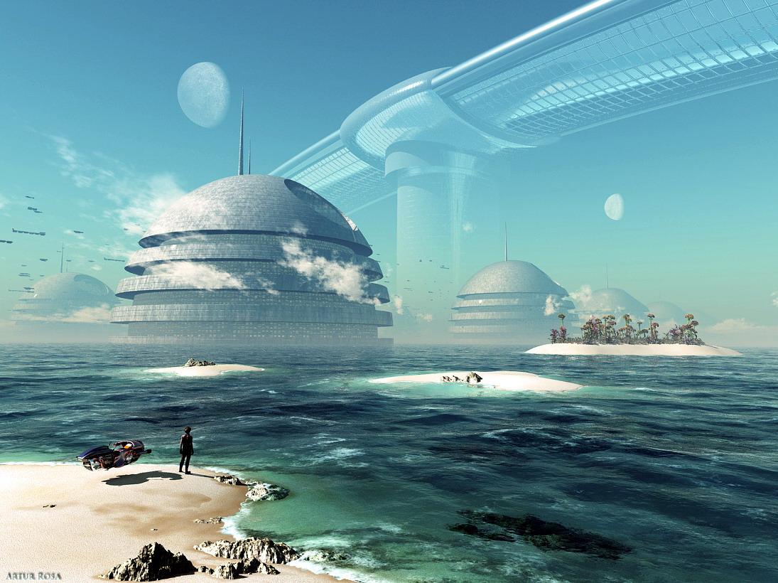 Cenário de ficção científica