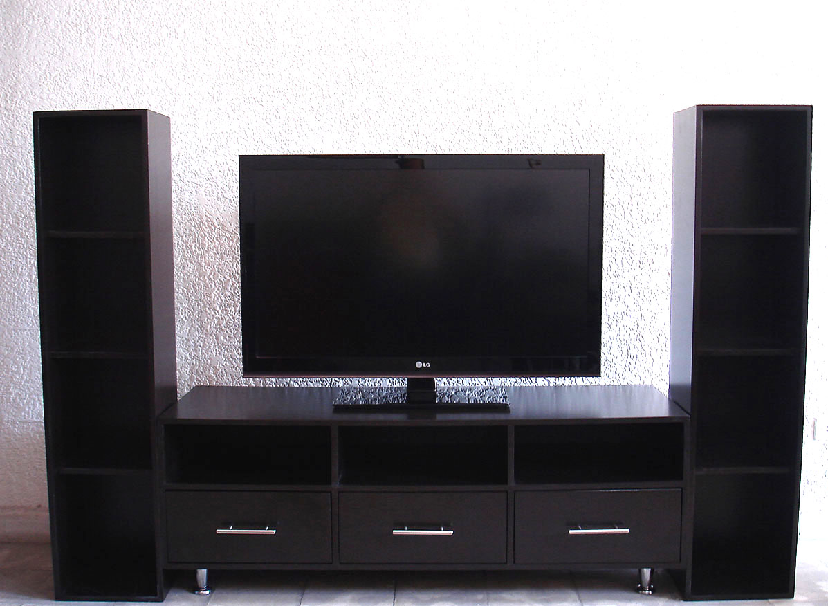 El outlet del gabinete muebles para tv for Mueble minimalista