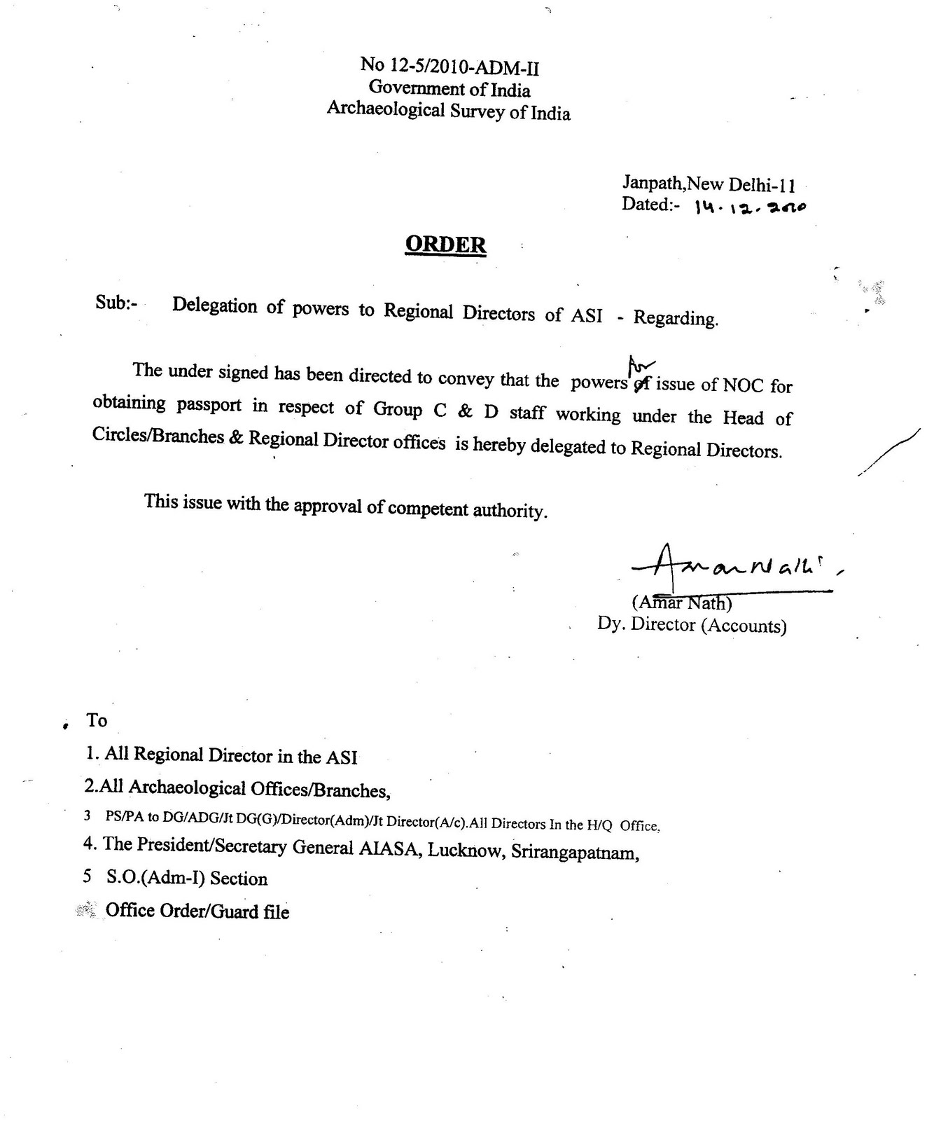All india archaeological service association regd delegation of all india archaeological service association regd delegation of powers to issue noc to group c and d staff spiritdancerdesigns