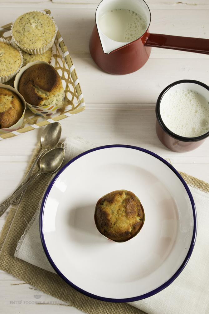 muffins de limón con semillas de amapola