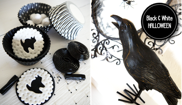 Party blog by birdsparty printables parties diycrafts - Black and white food ideas ...