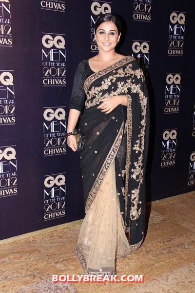 vidya balan at GQ Awards 2012 - GQ Awards 2012 Red Carpet Pics