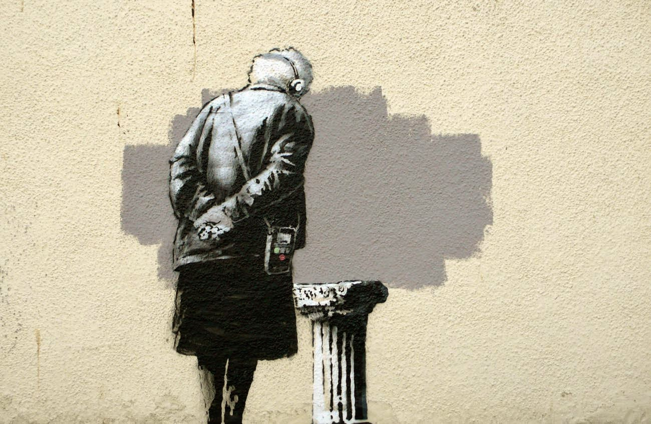 We welcome back to the monthly Top 10 street art pieces on StreetArtNews (ranking based on our server unique page-views) with a great piece from the legendary British artist Banksy, featured at number one for September. This brilliant stencil-piece was revealed just a few days ago and instantly rose at the top of our charts.