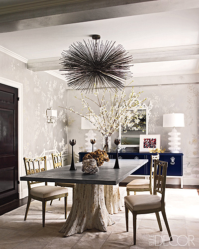 T h e v i s u a l v a m p getting to the root of for Tree trunk dining room table