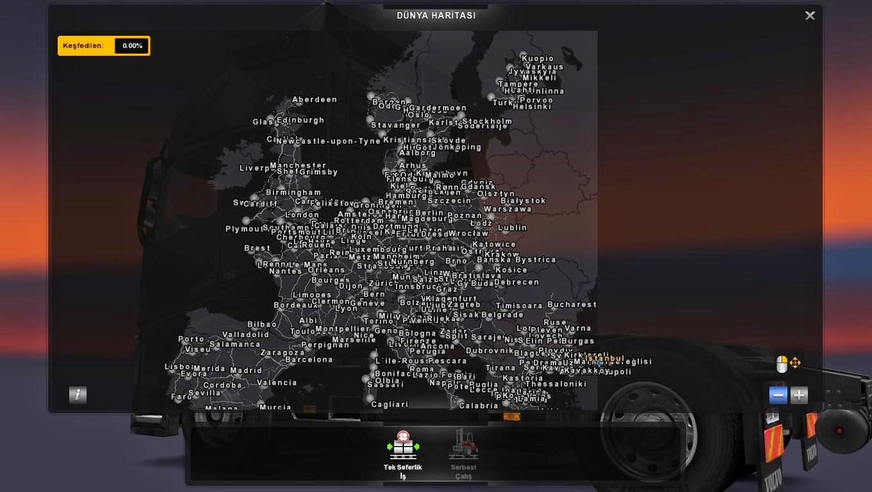 Mapa Europa E África V Para VX By Mario Bogdanov - Portugal map euro truck simulator 2