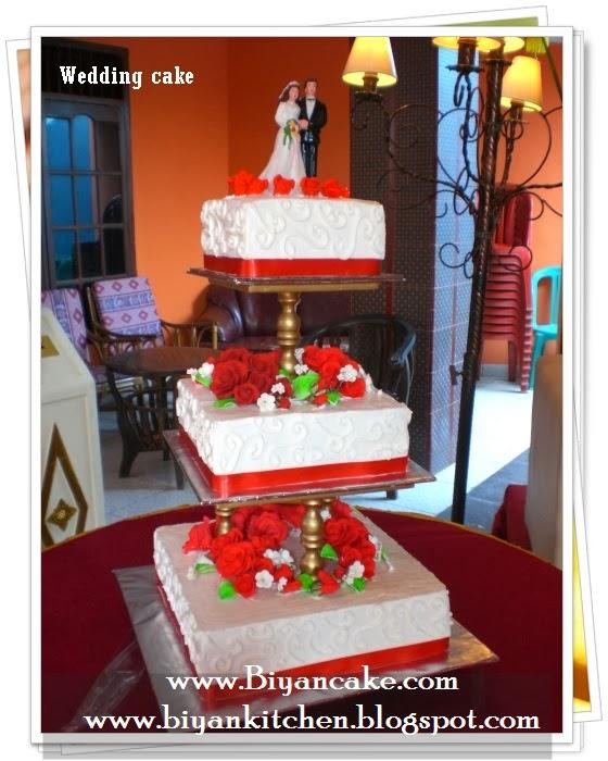 Wedding cake merah putih