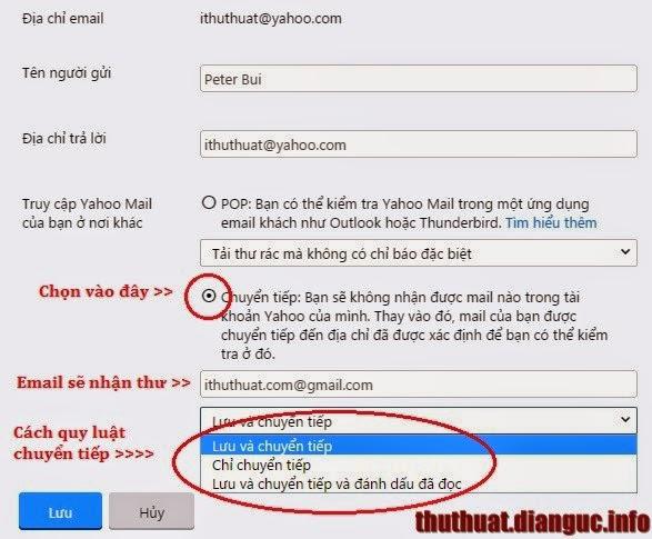 cách chuyển email yahoo sang gmail