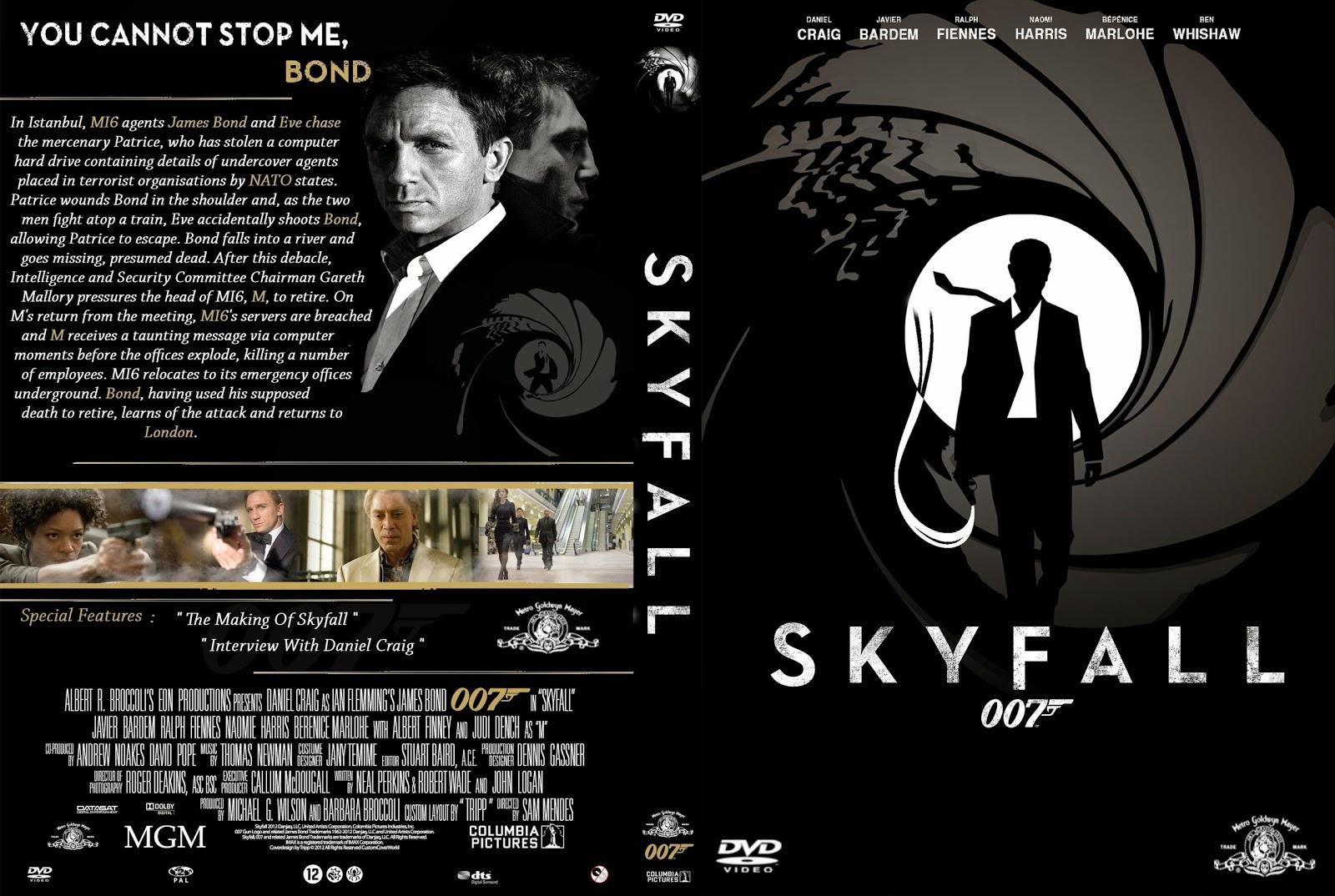 Capa DVD Skyfall 007