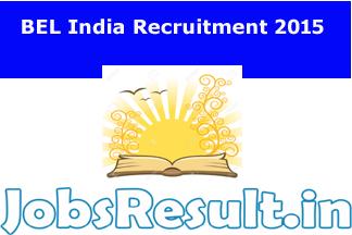 BEL India Recruitment 2015