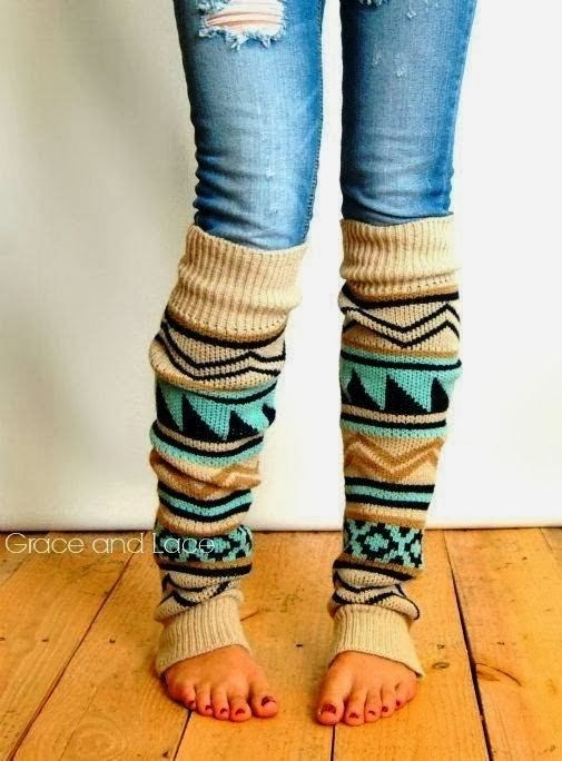 Aztec Tribal Print Leg Warmer and Suitable Jeans