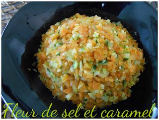 Brunoise de carottes et courgettes