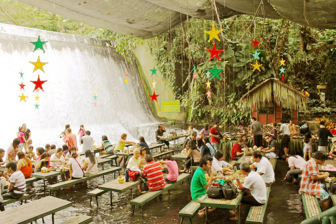 Villa Escudero Resort With The Waterfalls Restaurant In Philippines Of Who Loves To Travel March 2012