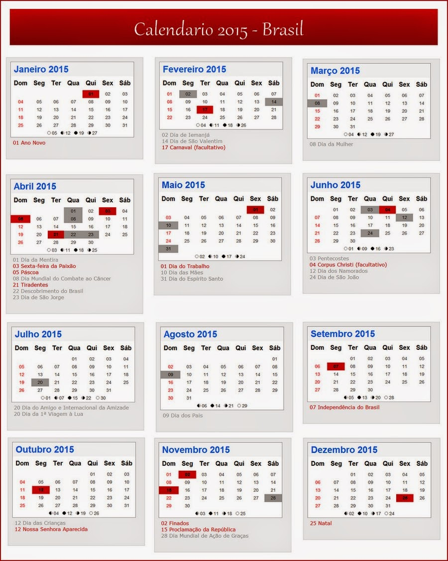 ... para imprimir logo abaixo calendário 2015 para imprimir com datas