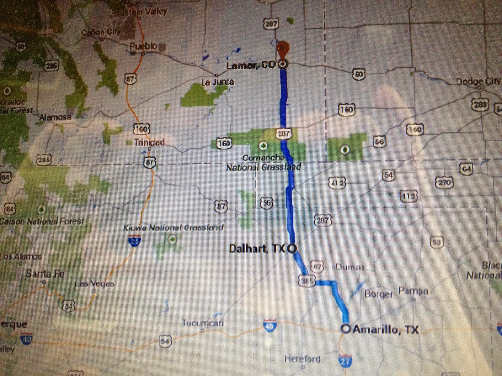 Teri's World: Dalhart, TX and Lamar, CO on
