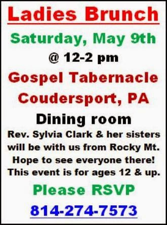 5-9 Ladies Brunch, Gospel Tabernacle