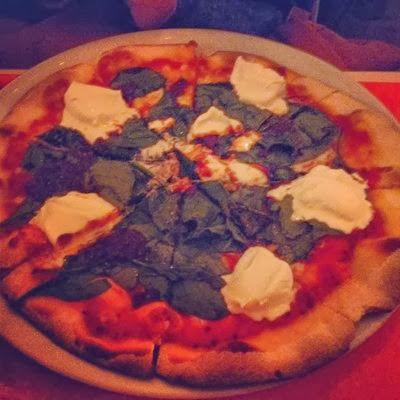 La veronica, pizza espinacas
