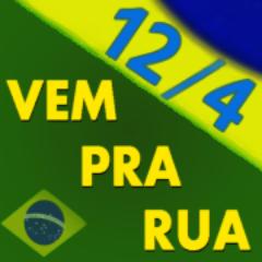 vou pra rua 12-4 com bandeira do Brasil na manifestação de abril