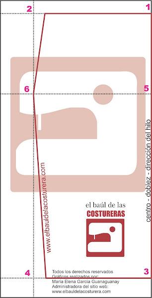 Molde de costura para falda lápiz fácil de hacer