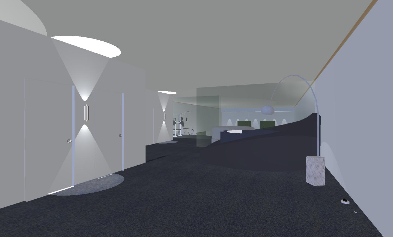 Illuminati la luce a progetto di un loft con soppalco