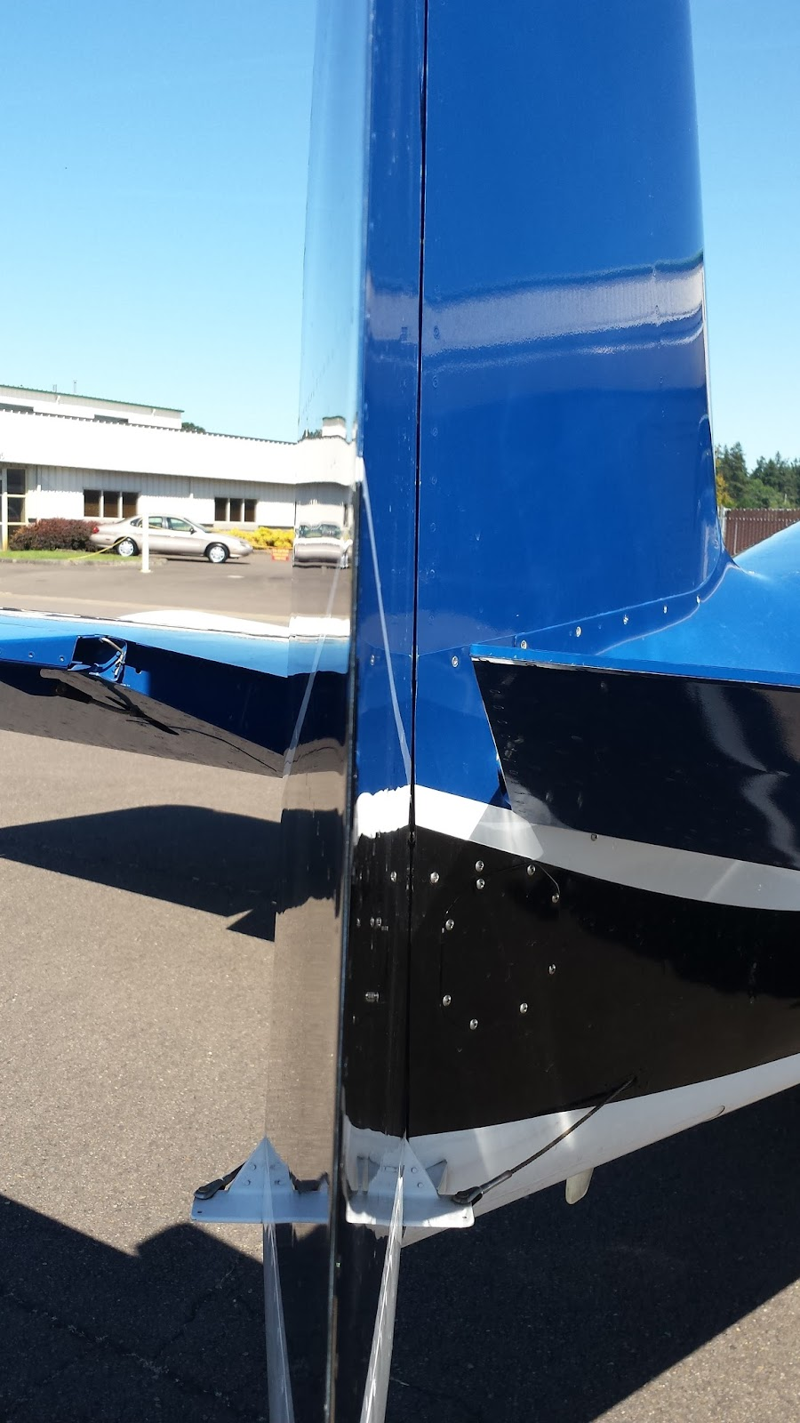 Rudder from right