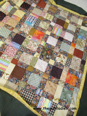 Simple Quilt using Squares made into a Quilt