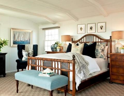 coastal bedroom by Barclay Butera
