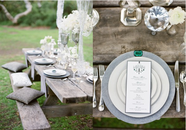 La decoración de mis mesas: ideas para bodas: glamour en el campo