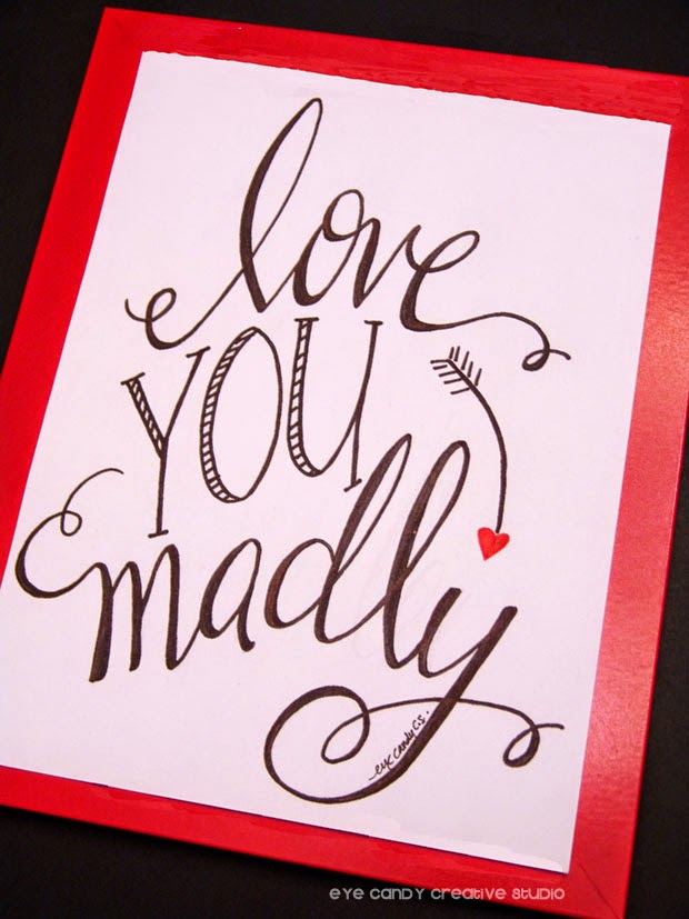 red framed art print, love you madly, valentines gift idea, wedding gift idea, arrow, hearts