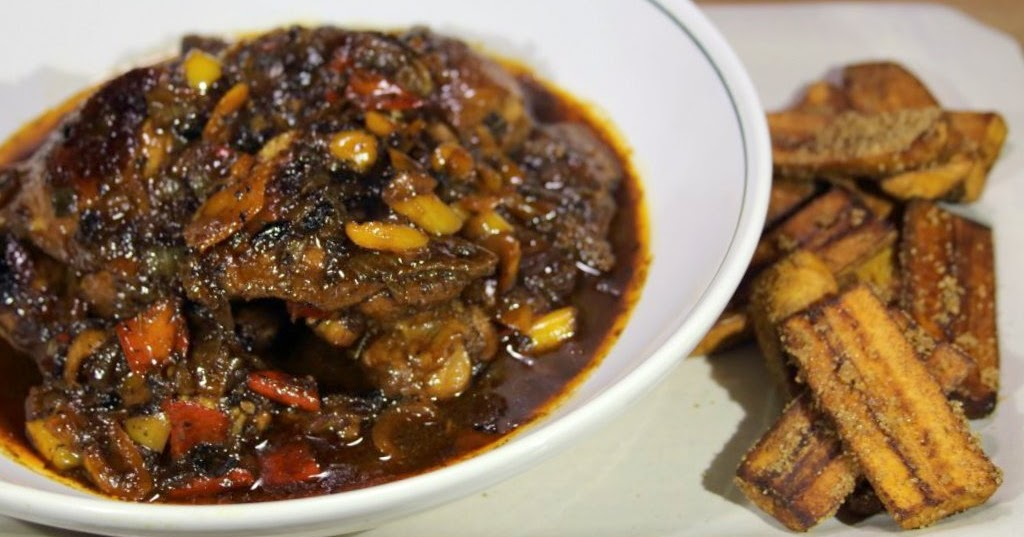 The Diy Food Blog Real Recipes For Real People Jamaican Brown Stew Chicken With Fried Plantains
