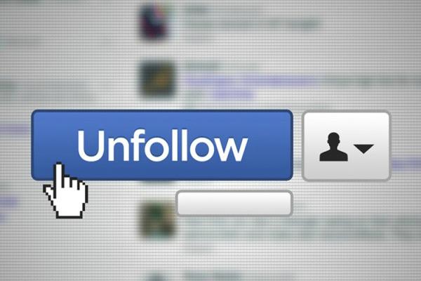botón unfollow facebook