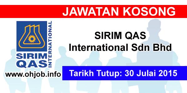Jawatan Kerja Kosong SIRIM QAS International Sdn Bhd logo www.ohjob.info julai 2015