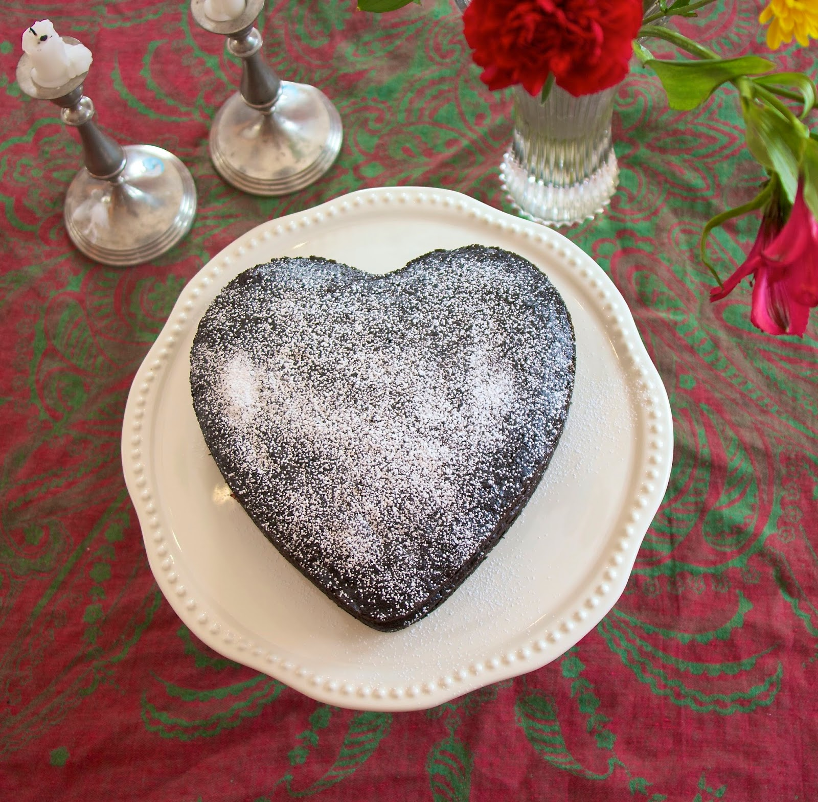 Emergency Chocolate Cake: The Valentine's Day Version: simplelivingeating.com