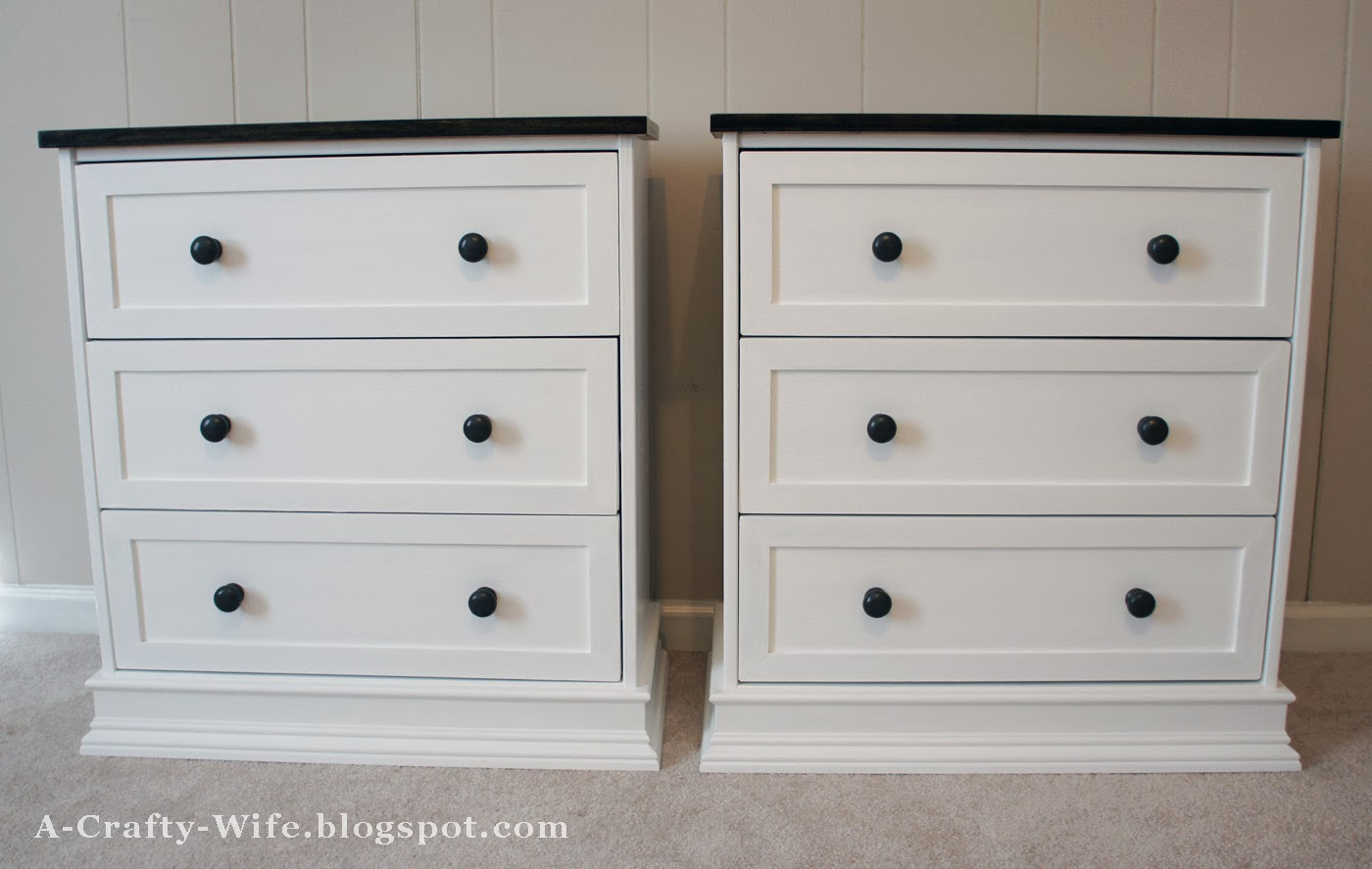 Ikea Rast hack for bedside tables - finished shot | A Crafty Wife