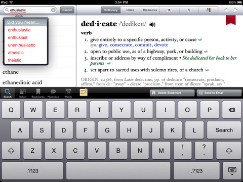 how to add words to phone dictionary iphone