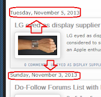 Current Date on Every Post, Even if it's Posted on the Same Day for blogger blogs