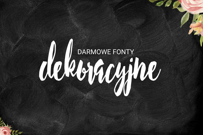 6 pięknych i darmowych dekoracyjnych fontów czcionek ! pasje