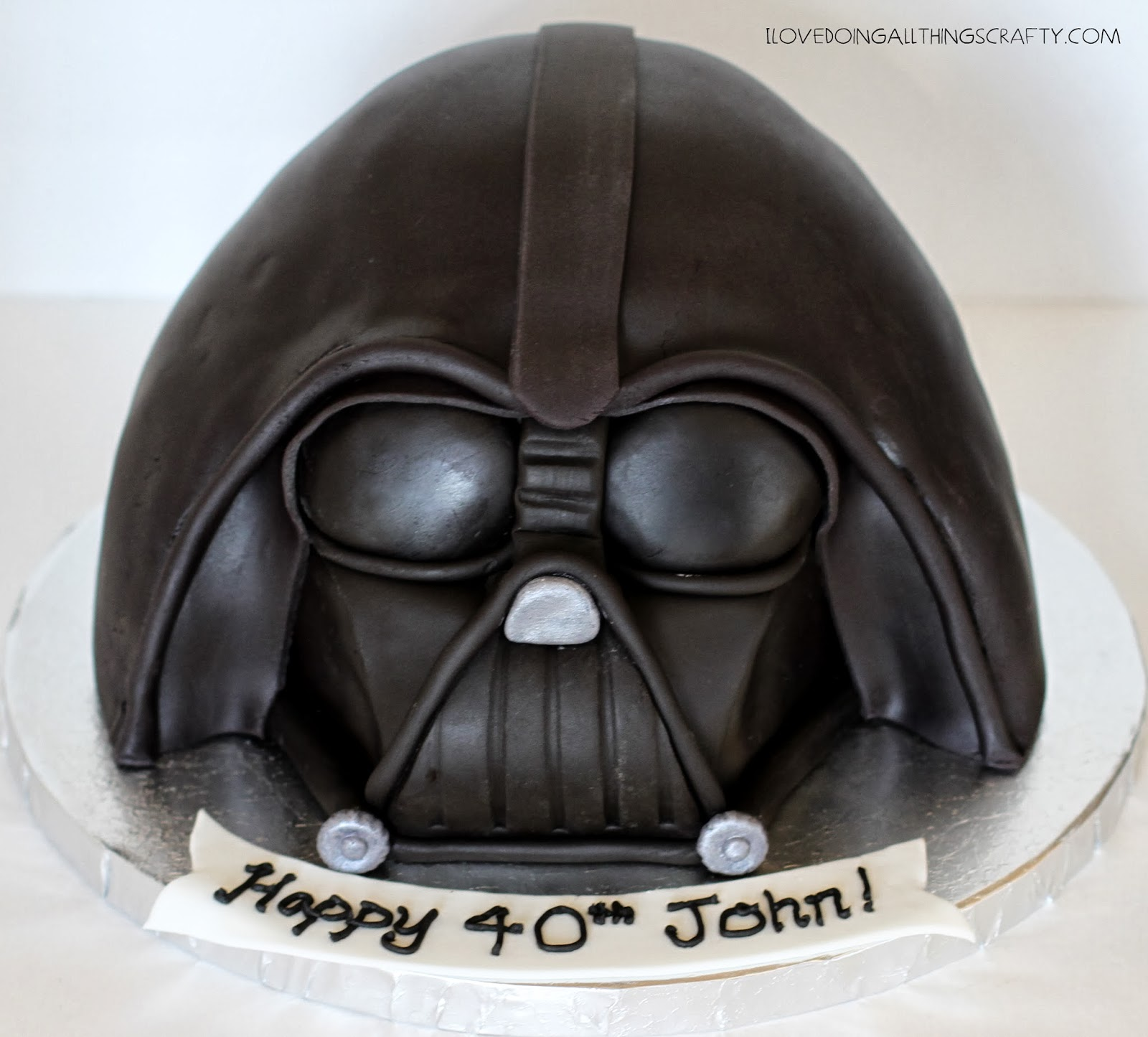I Love Doing All Things Crafty Darth Vader Cake